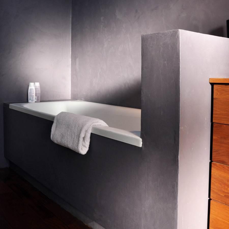 Enduit Carrelage Salle De Bain mercadier - béton ciré - kit mur pièce d'eau - support carrelage tasmanie -  jusqu'à 6.4m²