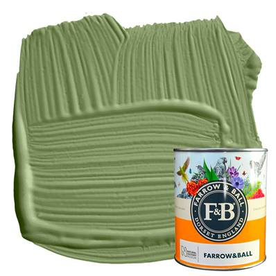 Farrow & Ball - Estate Eggshell - Peinture Satinée - NHM W56 Sap Green - 750 ml