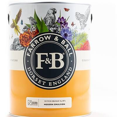 Farrow & Ball - Modern Emulsion - Peinture Lavable - NHM W93 Crimson Red - 5 L