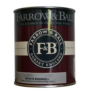 Farrow & Ball - Estate Eggshell - Peinture Satinée - 04 Old White - 750 ml