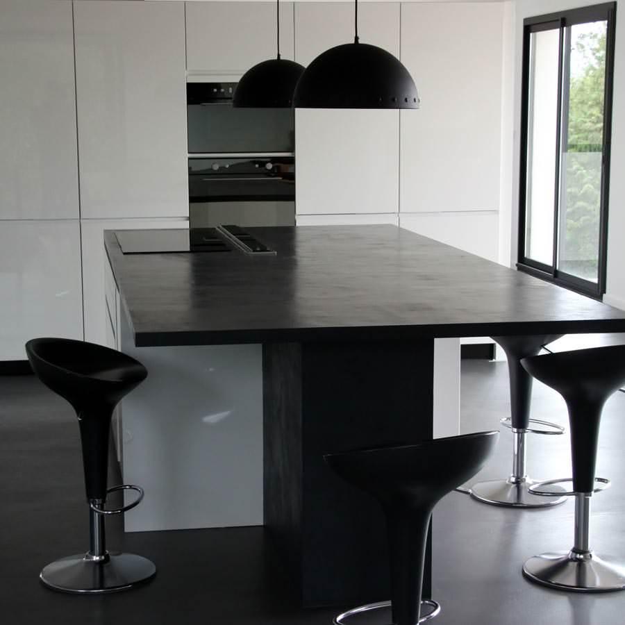 faire un plan de travail en b ton cir kit complet. Black Bedroom Furniture Sets. Home Design Ideas