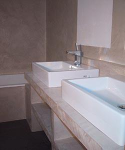 Projet d co kit b ton cir plan de vasque mercadier for Hydrofuge beton cire
