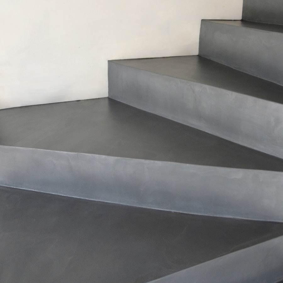 Sol et escalier en b ton cir d coratif kit complet - Escalier beton lisse ...