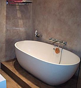 mercadier b ton cir kit mur pi ce d eau support carrelage beton cire salle de bain prix - Enduit Cire Salle De Bain