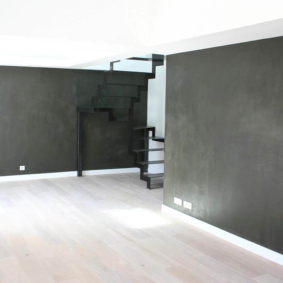 mur en b ton cir kit complet b ton cire mural mercadier. Black Bedroom Furniture Sets. Home Design Ideas