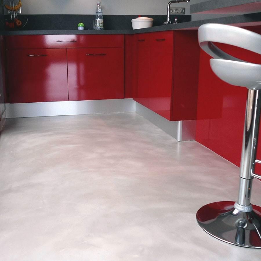 port offert kit b ton cir pour sol pi ce d 39 eau sur ancien carrelage c 39 est balaud. Black Bedroom Furniture Sets. Home Design Ideas