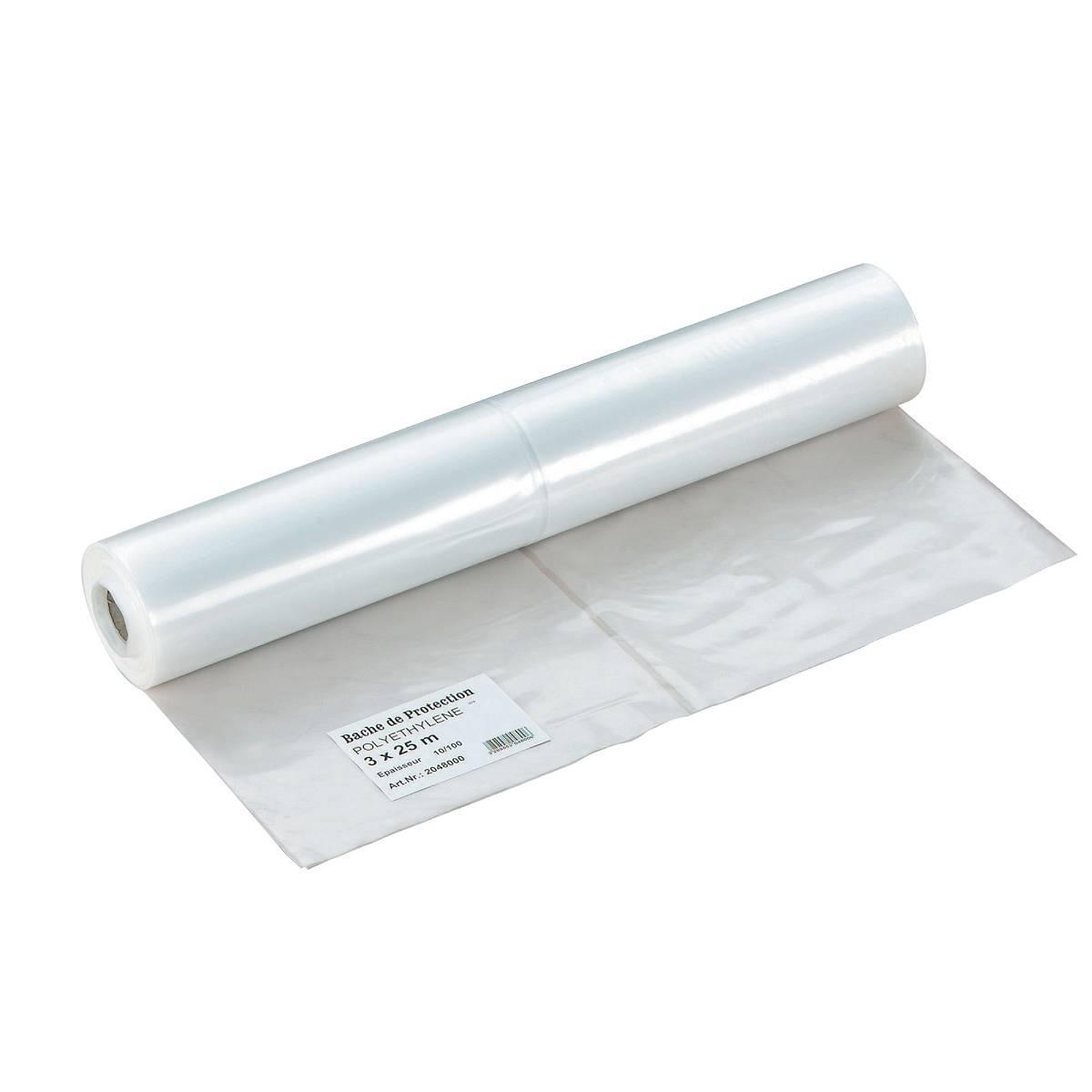 Vente en ligne rouleaux bache protection 3m x 25m 5 100 me - Rouleau bache de protection ...