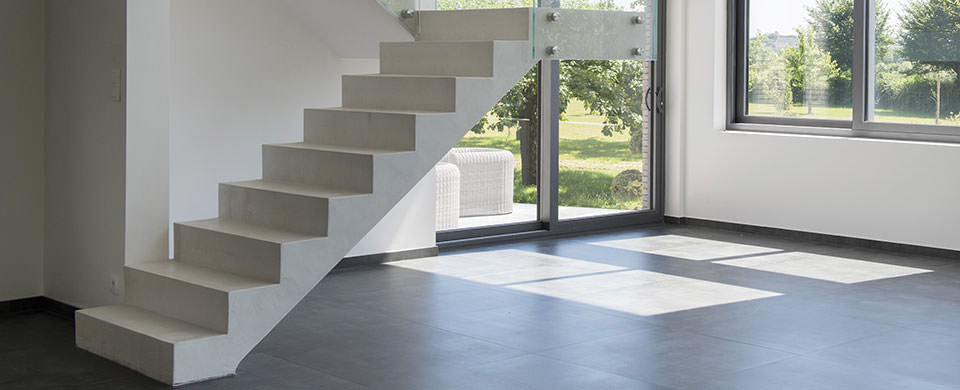 Beton Cire Peinture Deco Pour L Escalier Mercadier