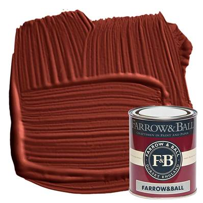 Farrow & Ball - Exterior Eggshell - Peinture Extérieur - 43 Eating Room Red - 750 ml