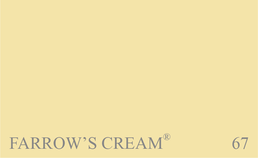 Couleur 67 Farrows Cream : La couleur crème d'origine de Farrow & Ball.