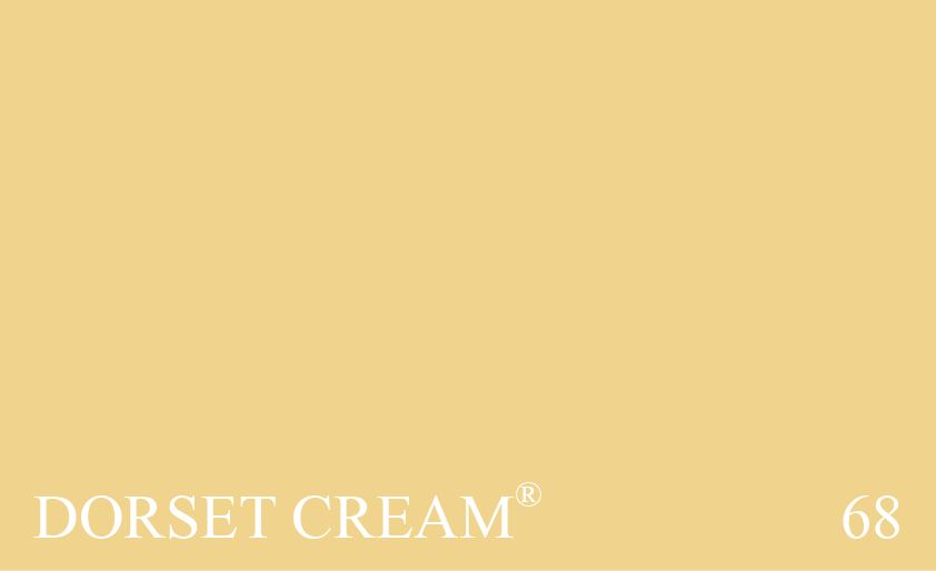 Couleur 68 Dorset Cream : Une version plus sombre et plus jaune du no. 67 Farrow's Cream®.